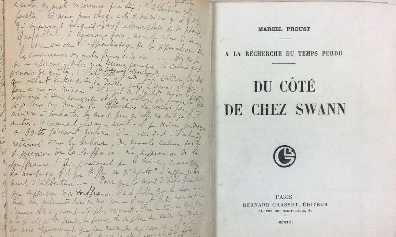 Appel au don pour l'acquisition de l'original Du côté de chez Swan avec une lettre-dédicace inédite de Marcel Proust