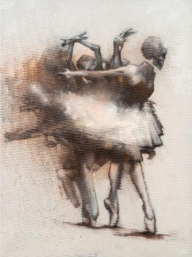 Bom.K. Dirty Dancing. 2020. Techique mixte sur toile. 130 x 97 cm. © Jean-Louis Losi