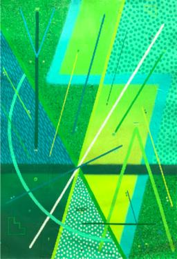 Sixe Paredes. Circulo Sagrado 2. 2020. Acrylique, aérosol et pâte d'apprêt sur papier. 100 x 69cm. © Galerie Le Feuvre & Roze