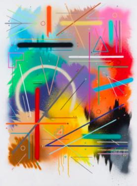 Sixe Paredes. Interconexiones N-2. 2018. Acrylique sur toile. 130 x 97 cm. © Galerie Le Feuvre & RozeSixe Paredes. Interconexiones N-2. 2018. Acrylique sur toile. 130 x 97 cm. © Galerie Le Feuvre & Roze
