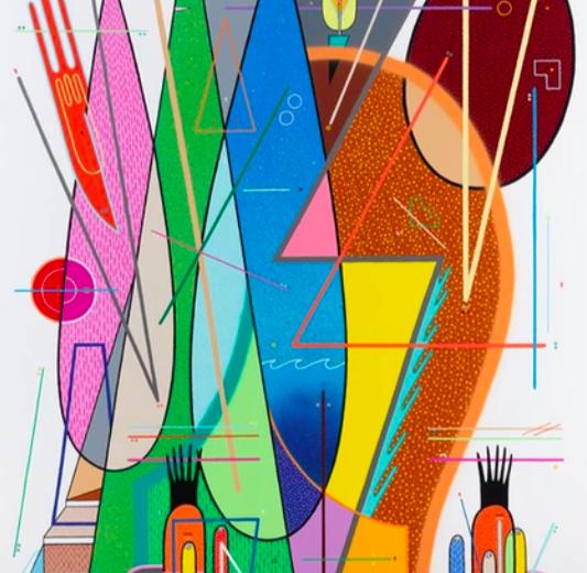 Sixe Paredes. Personaje Zoomorfo N-5. 2018. Acrylique sur toile. 162 x 130 cm. © Galerie Le Feuvre & Roze