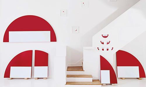Vue de l'exposition TIR, Galerie Laurent Strouk 2021.