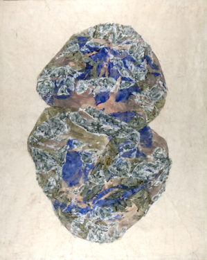 Simon Hantaï. Panse. 1964. Huile sur toile. Signée des initiales et datée en bas à droite. 128 x 102 cm. © Galerie de la Présidence