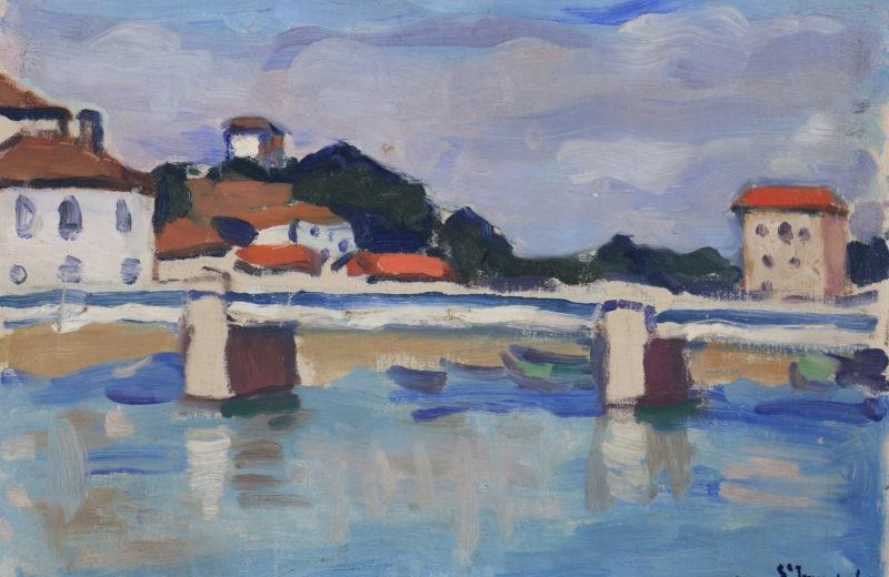 Albert Marquet. Saint-Jean-de-Luz, le pont routier. 1907. Huile sur carton toilé. Signée et située en bas à droite. 23,5 x 33,5 cm. © Galerie de la Présidence