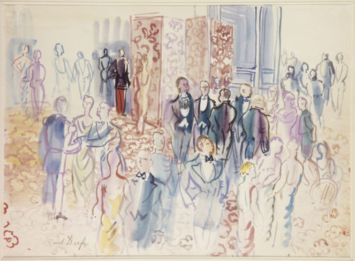 La réception, 1931-1935 Aquarelle et gouache sur papier vélin d'Arches, dim. 50,3 cm x 69,5 cm Paris, Musée d'art Moderne de Paris, legs de Mme Berthe Reysz en 1975, © Adagp, Paris 2021