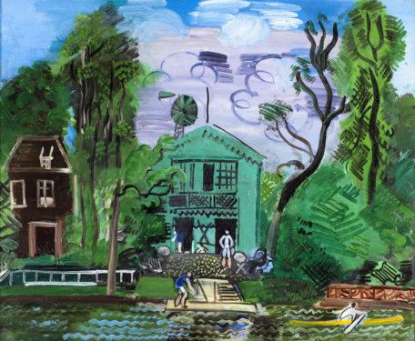 Bords de Marne, les canotiers, vers 1925 Huile sur toile, dim. 59,5 cm x 72,5 cm Paris, Musée d'art Moderne de Paris, legs du Docteur Maurice Girardin, 1953 © Adagp, Paris 2021