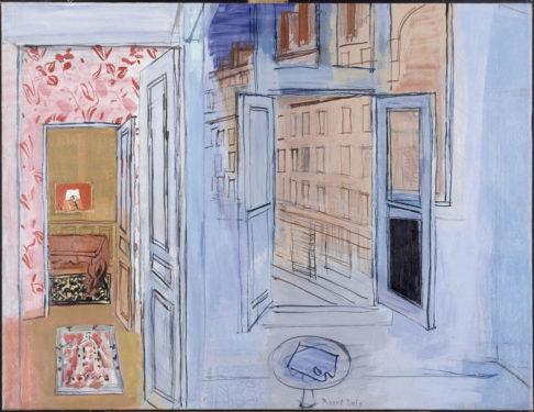 L'Atelier de l'impasse Guelma, 1935-1952 Huile sur toile, dim. 89 cm x 117 cm Paris, Musée National d'Art moderne, Centre Georges Pompidou, legs de Mme Raoul Dufy, 1963 © Adagp, Paris 2021