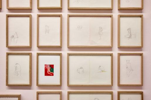 Michèle Sylvander, vue de l'expositionJuste un peu distraite Crédit photo: Frac Provence-Alpes-Côte d'Azur / Laurent Lecat.
