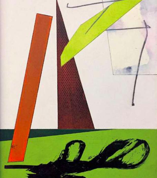 Jean-Marc Thommen, Débauche d'ébauches, 30/10/2018, technique mixte sur papier Arches, 30 x 24 cm© DR / J-M Thommen, Courtesy Galerie Jean Fournier.