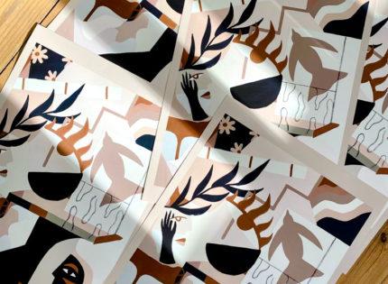 Edition d'art de l'artiste Madi pour la Cohle Gallery